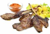 Grilled ribs rack — Stock Photo