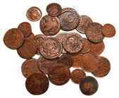 Russian bronze imperial coins — Stock Photo