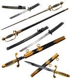 Different types of swords — Stock Photo