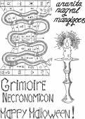 Necromancy Mystic set — Stock Vector