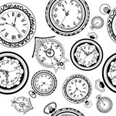Clocks and watches  pattern — Stock Vector