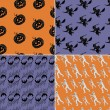 Seamless Halloween backgrounds — Stockvector  #66586689