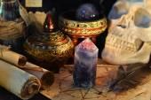 Halloween  magic crystal stone — Stock Photo