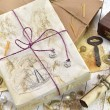 Marine still life with decorated  gifts — Stock Photo #74816433
