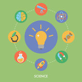 Science concept vector illustration, flat icons — ストックベクタ