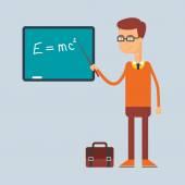 Character - teacher, education concept. Vector illustration, flat style — Stock Vector