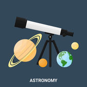 Astronomy concept, vector illustration — Stock Vector