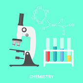 Chemistry concept, vector illustration — Stock Vector