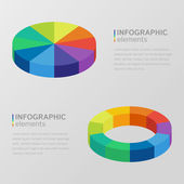 Circle diagrams for infographic — 图库矢量图片