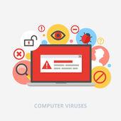 Computer viruses vector illustration — Stock Vector