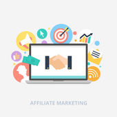 Affiliate marketing concept vector illustration — Stock Vector