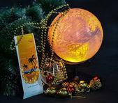Christmas present tourist poezdkav warmer countries — Photo
