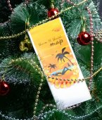 Christmas gift journey — Stock Photo