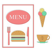 Fast-food menusjabloon — Stockvector