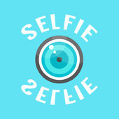 Concept of selfie with lense — Stock Vector