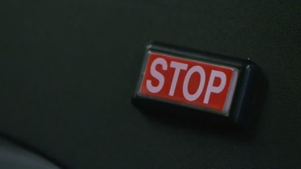 Bouton d'arrêt poussant — Vidéo