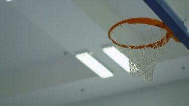 Three basketballs scoring in a net consecutively — Stock Video