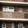 Exterior of flats from a tower block estate — Stock Photo #71870163