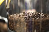 Coffee beans close up in a grinder — Stock Photo