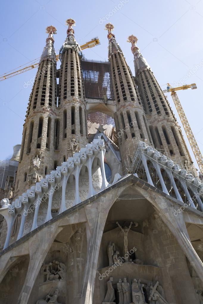 barcelona espaa de agosto de exterior de la sagrada familia en barcelona una obra maestra inconclusa tarde arquitecto antoni gaud