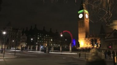 London with Big Ben the prominent monument — Video Stock