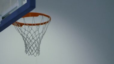 Basketball passing through the hoop — Stock Video