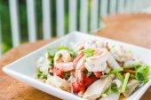 Squid Spicy Salad ,Thai seafood — Stock Photo