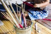 Equipment weaver karen. — Stock Photo
