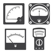 Icons of electrical measuring instruments — Stock Vector