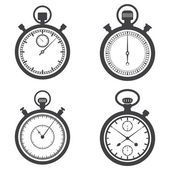 Stopwatches and chronometer — Stock Vector
