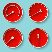 Speedometer icons — Stock Vector