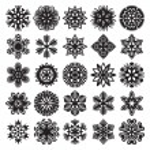 Decorative snowflakes. Black on white. Set 2 — Stock Vector #55278215