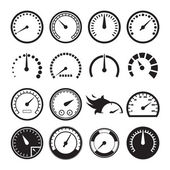 Set of speedometers icons — Stock Vector