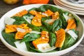 Spinach salad with roasted pumpkin — Stok fotoğraf