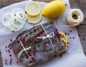 Rainbow trout for baking — Stock Photo