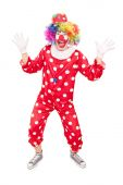 Male clown gesturing with hands  — Stock Photo