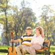 Husband and wife in park — Stock Photo #61403799