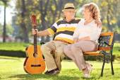 Mature man with his wife — Stock Photo