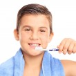 Little boy brushing his teeth — Stock Photo #78052820