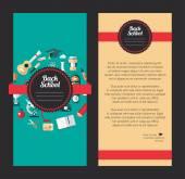 Vector school flat design flyer templates — Stock Vector