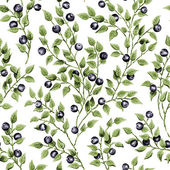 Illustration of seamless pattern with blueberry — Stock Photo