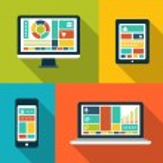 Set of modern flat design gadget icons — Stock Vector #52968019