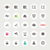 Set of flat secure icons — Stock Vector