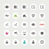Set of flat secure icons — ストックベクタ