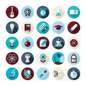 Set of flat design icons with long shadows — Vettoriale Stock