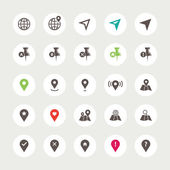 Set of isolated navigation icons — Stock Vector