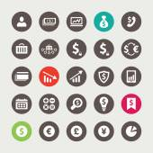 Set of financial and business icons — Stock Vector