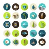 Modern flat design conceptual ecological icons — Vector de stock