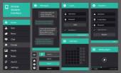 Illustration of flat design mobile interface — Vector de stock