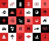 Set of flat design Japanese icons — Vetorial Stock